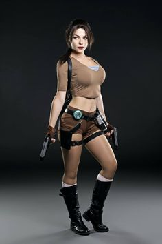 Character: Lara Croft / From: Eidos Interactive & Square Enix's 'Tomb Raider' Video Game Series / Cosplayer: Irina Pirozhnikova (aka Captain Irachka Cosplay) / Photo: GQ México (2016)