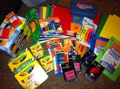 Darcy creates school supply bags for children affected by the Joplin tornadoes with #BagItForward