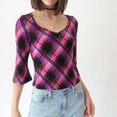 3056577be40d09 Depop - The creative community s mobile marketplace. Pink SparklyFlawsTartanLong  Sleeve TopsSassyPlaid