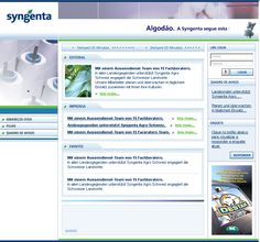 Site do grupo Syngente referente ao mercado de algodão.