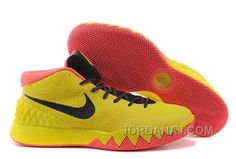 Find this Pin and more on Nike. Buy Nike Kyrie Irving 1 PE Yellow-Black/Bright  Crimson Cheap Sale ...