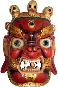 SOLD Large Red Tibetan Mahakala Mask 31