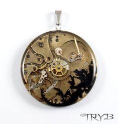 http://polandhandmade.pl  #polandhandmade #steampunk #archangel #beast #medallion.