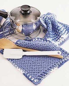 Bernat: Pattern Detail - Handicrafter Cotton - Dishcloth and Potholder (cr)