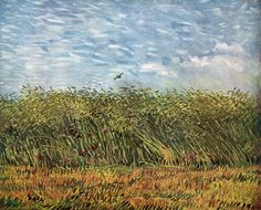 "Vincent van Gogh ""Wheat Field with a Lark"" /  Summer 1887, Paris /  Oil on canvas, 54 x 65 cm /  Rijksmuseum Vincent van Gogh, Amsterdam"