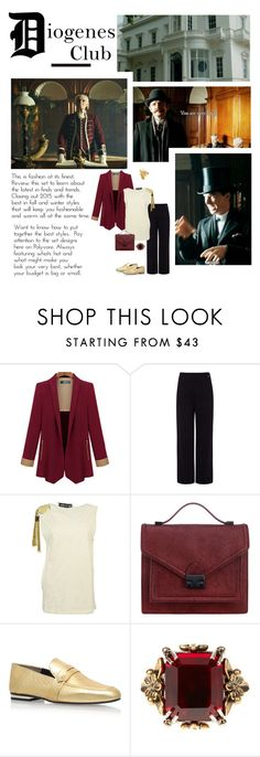 """D for Diogenes Club"" by audreyh88 ❤ liked on Polyvore featuring Pink Tartan…"