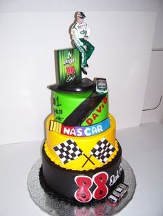 nascar racing cake for a friend By Brendabeeper on CakeCentral.com