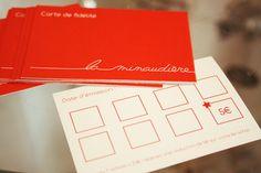 """Design loyalty cards pour la boutique """"La Minaudière"""""""