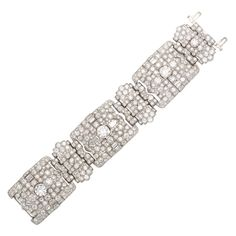 1stdibs.com | Magnificent Wide Art Deco Diamond Bracelet
