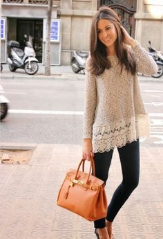 Simple spring outfit with leggings