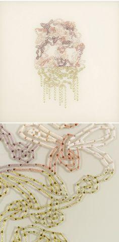 anouk desloges - embroidery on plexiglass <3