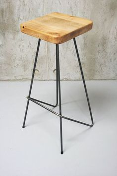 New kitchen bar stools industrial ideas Cheap Patio Furniture, Welded Furniture, Iron Furniture, Steel Furniture, Hand Painted Furniture, Industrial Furniture, Diy Bar Stools, Industrial Bar Stools, Kitchen Stools