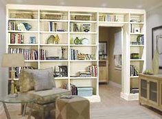 Bookshelves with a door