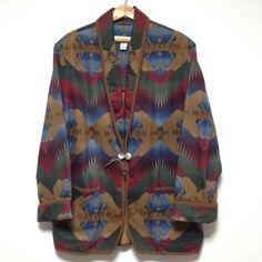 JONES NEW YORK SPORT Native Patterned Cotton Jacket Size L