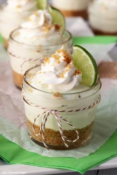 No Bake Key Lime Cheesecake In A Jar | by Life, Love and Sugar