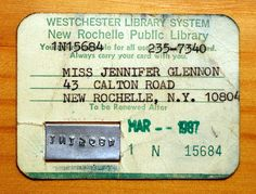 70s-80s library card.