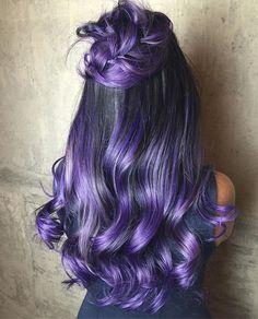 "455f6a02ff54b9 Sarmad Najem on Instagram  ""Vibrant purple with silver highlight on this  beauty  👌🏽  hairbysarmad . . . . . .  perfect balayage   balayagehighlights ..."