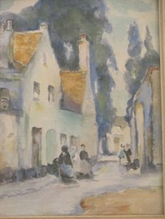 Sophia Hogan Antique Early 20th Century Old Street Scene Impressionism Painting | eBay