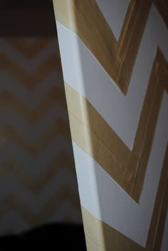 DIY: Chevron Canvas--I think I could even do this.