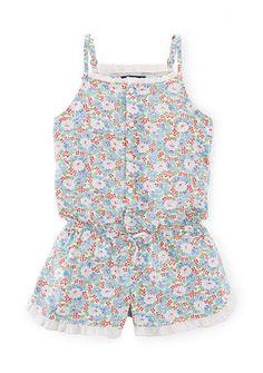 Ralph Lauren Childrenswear Floral Romper Girls 7-16