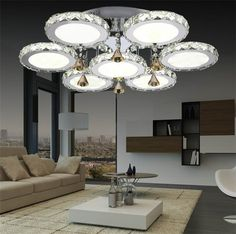365.00$  Buy now - http://ali9yx.worldwells.pw/go.php?t=32306108710 - Crystal Flush Mount Ceiling lamps big Living room foryer led ceiling light modern led ceiling lights lustre luminarias fixture 365.00$