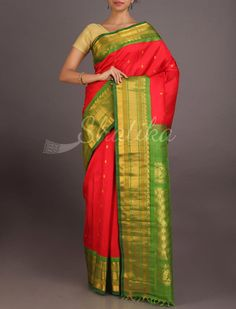 Parvati Ravishing Broad Border Pure #GadwalSilkSaree