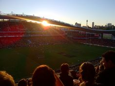 Beautiful sunset in Sydney over Wallabies v Wales