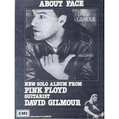 Les Paroles de David Gilmour :Cette affiche italienne de 1984 à propos de l'album de visage de David semble être désireux de promouvoir la version cassette - et comprend également une image (dans le coin inférieur) de David pris Pink Floyd 1977 dans la tournée de la chair.