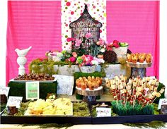 could work for valentines day or spring party in addition to the bridal shower they show here