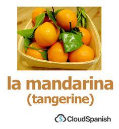 la mandarina (tangerine)