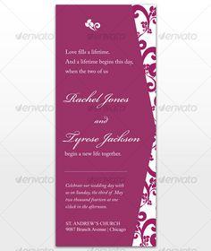 Paradise Wedding Invitation