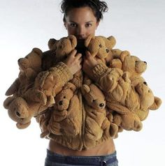 I loove it. Imagine wearing this around!! I'm cold let me grab my Teddy Bear Sweater.