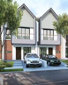 Modern home design Modern Townhouse, Townhouse Designs, Duplex Design, Modern House Design, Facade House, Exterior Design, Modern Architecture, House Plans, House Styles