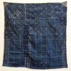 SashikoBoroFursohiki3 A Chaotically Mended and Stitched Furoshiki: Unusual Patterns