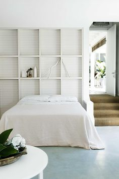 Wall idea for back veranda...'shelving' for glasses, candles, decor etc..