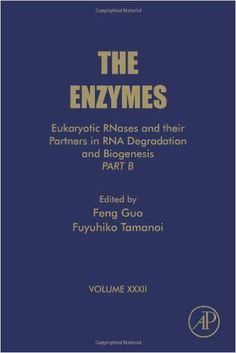 NEW BOOK: Eukaryotic RNases and Their Partners in RNA Degradation and Biogenesis: Part B This special volume of The Enzymes is targeted towards researchers in biochemistry, molecular and cell biology, pharmacology, and cancer. This thematic volume discusses Eukaryotic RNases and their partners in RNA degradation and biogenesis.