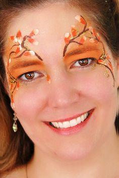 Autumn Fairy Face Painting