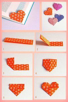 Origami Heart Bookmark Love 26 Ideas For 2019 Origami Diy, Paper Crafts Origami, Origami Tutorial, Diy Paper, Paper Crafting, Paper Art, Origami Instructions, Heart Origami, Origami Hearts