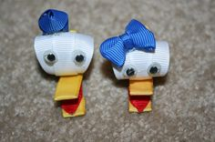 CLEARANCE SALE - Donald or Daisy Duck - Disney - Character 3D Ribbon Sculpture hair bow clip clippie accessory