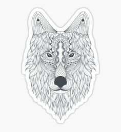 T-shirt Wolf Sticker