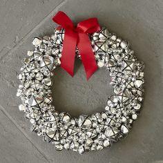Pretty Silver Bell Wreath