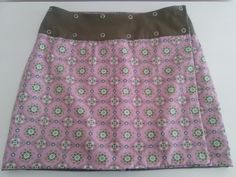 Reversible wrap skirt