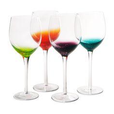 FIZZY WINE GLASSES - SET OF 4   Unique glassware, wine accessories   UncommonGoods