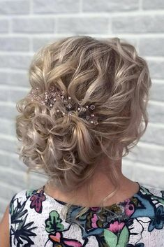Curly Hairstyles mother of the bride hairstyles elegant textured curly updo djamilya_hairstylist . mother of the bride hairstyles elegant textured curly updo djamilya_hairstylist Best Wedding Hairstyles, Elegant Hairstyles, Bun Hairstyles, Mother Of The Bride Hairstyles, Mother Of The Bride Hair Short, Mother Bride, Updo Hairstyle, Bridal Hairstyles, Hairstyle Ideas