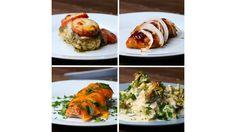 Chicken Bake 4 Ways by Tasty