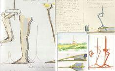 Original Sketches of Torre Montjuic by Santiago Calatrava