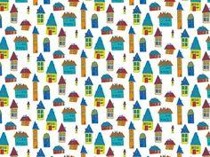 """grafika z katalogu """"Dla dzieci"""" - Domki  http://cottonbee.pl/tkaniny/dla-dzieci/7717-domki.html"""