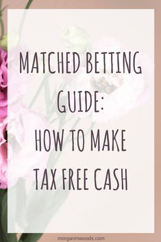 Matched betting is a totally legal and risk free way to make extra money online. It's one of my favourite side hustles and so far it's made me over I've developed this matched betting guide to help any newbies as they start out on their matched b Make Money Taking Surveys, Make Money Blogging, Make Money From Home, Money Tips, Money Saving Tips, Way To Make Money, Make Money Online, Money Budget, Cash Today