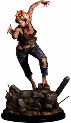The Clicker Statue from The Last of Us. This statue is made by Sideshow a company that specializes in detailed statues from popular franchises. And of course you can't go wrong with a great video game character like the clicker. A creepy zombie for sure! From one of the best Video games of all time.