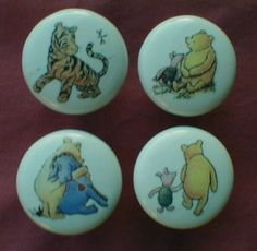 CLASSIC POOH & FRIENDS Ceramic Drawer Knobs ~ Set